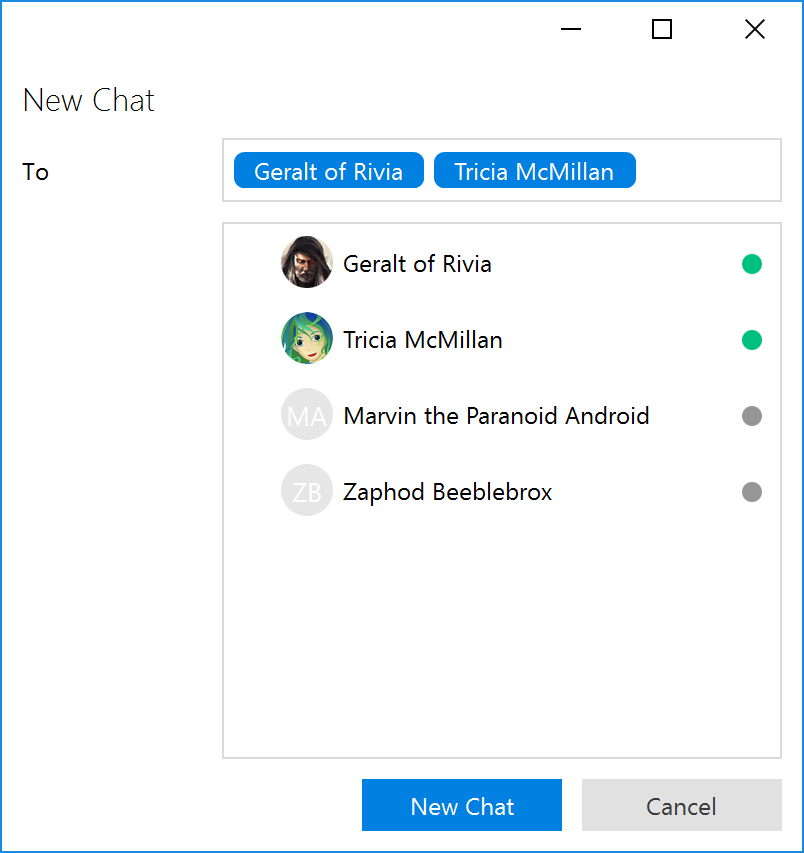 Creating a private group chat   Trillian