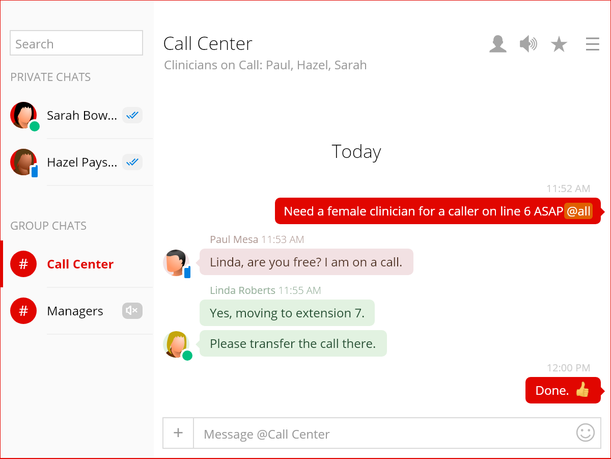 Affordable and modern HIPAA-compliant instant messaging